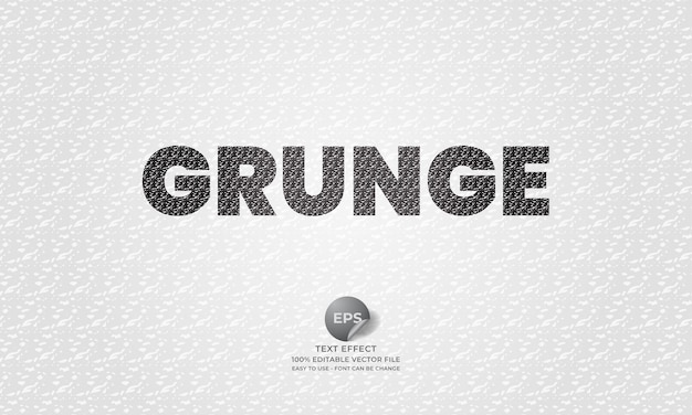 Grunge editable text effect with grunge pattern