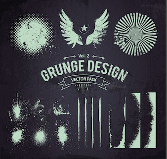 Grunge elements