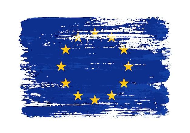 Флаг европейского союза гранж