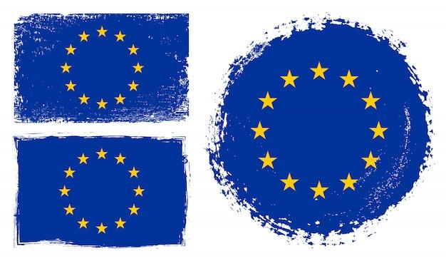 Grunge flag of european union