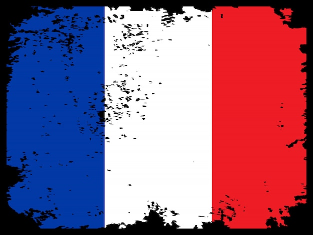 Grunge flag of france as background