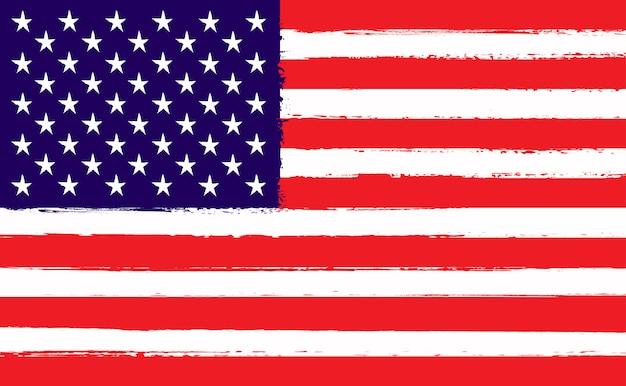 Grunge flag of united states