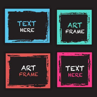 Grunge frame template collection