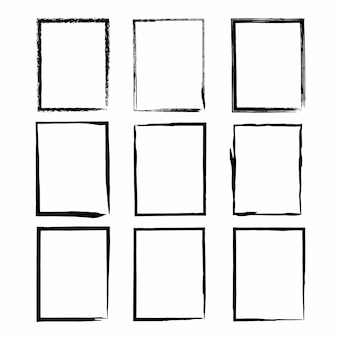 Grunge frame texture set