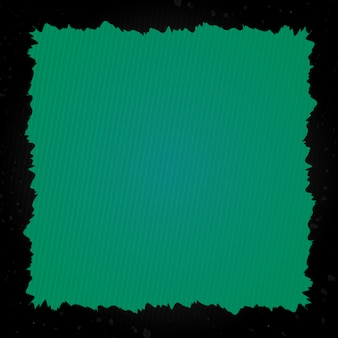Grunge frame with green background