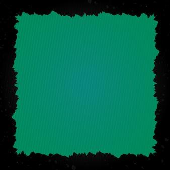 Grunge cornice con sfondo verde