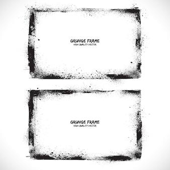 Grunge framed background set