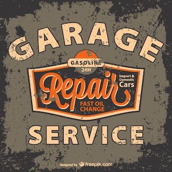 Grunge garage service poster
