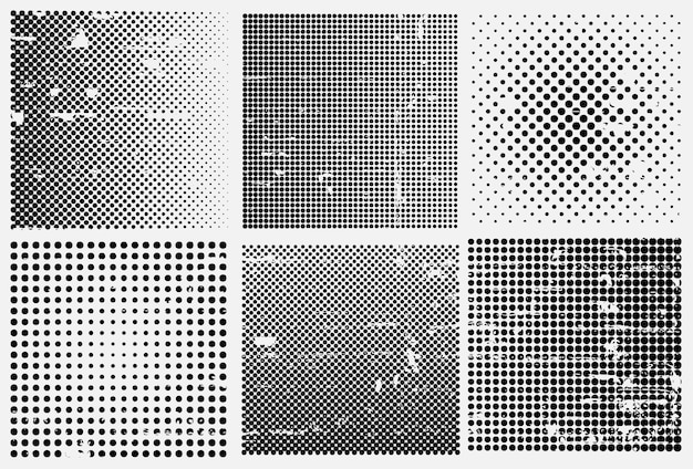 Grunge halftone backgrounds