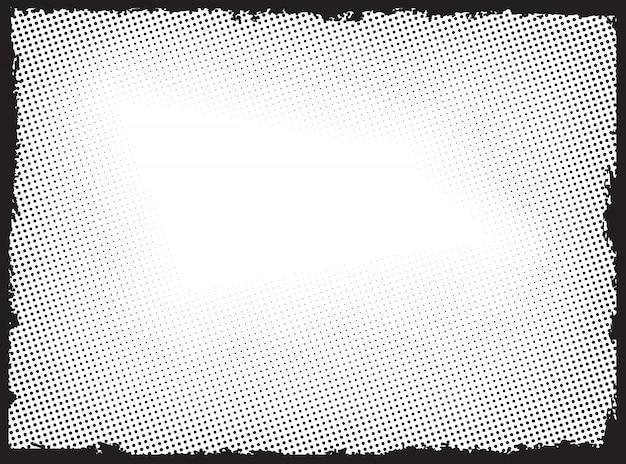 Grunge halftone frame