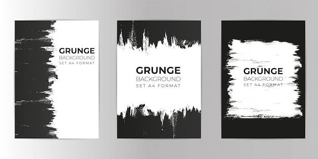 Grunge hand drawn background set a4 format