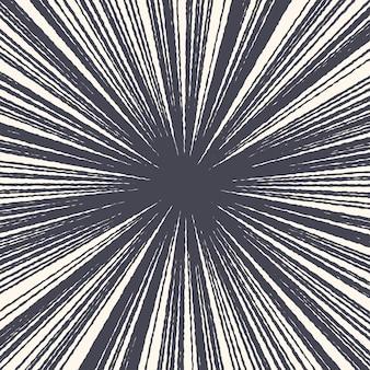 グランジ手描きラジアルインクラインテクスチャ抽象的な背景