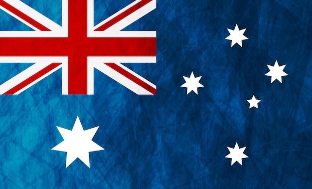 Гранж-иллюстрация австралийского флага. векторный фон