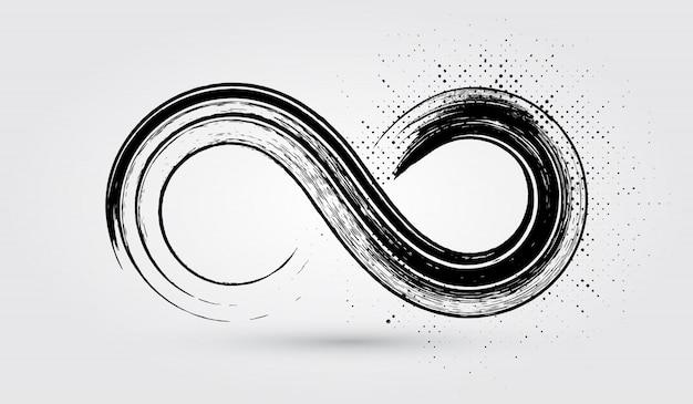 Grunge infinity symbol