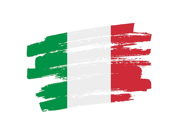 Флаг италии гранж