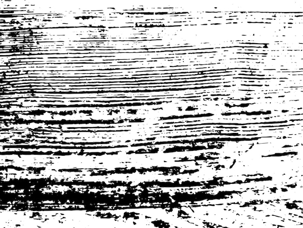 グランジ天然木のモノクロの質感。黒と白の抽象的な木製の表面オーバーレイの背景。ベクトルイラスト