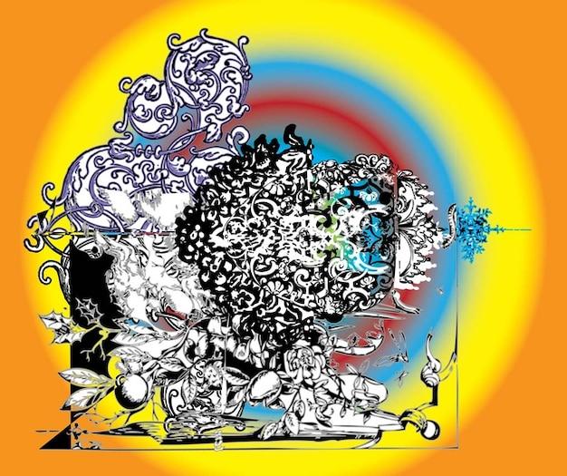 Grunge ornament graphics