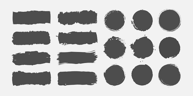 Grunge paint brush stroke collection