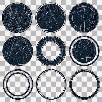Коллекция почтовых марок гранж