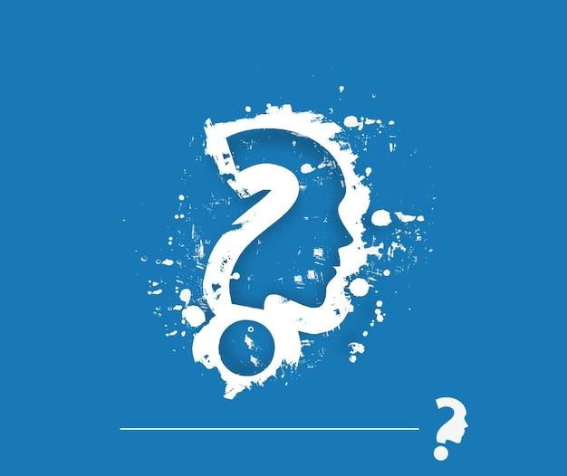 Grunge question mark vector design