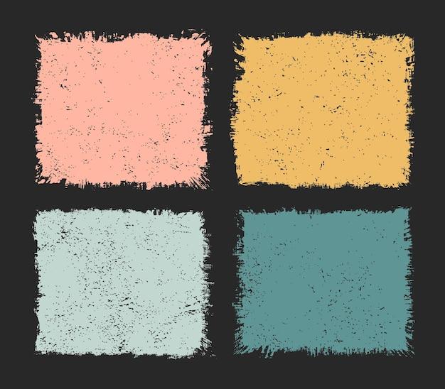 Grunge rectangle frame set