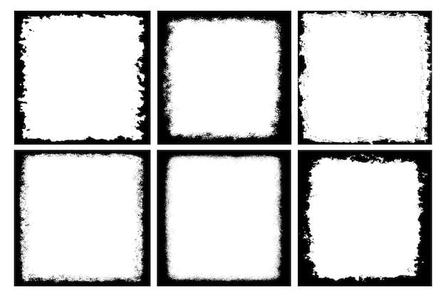 Grunge rectangular frames