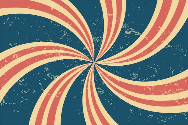 Grunge retro spiral background