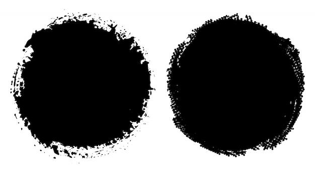 Grunge round frames set
