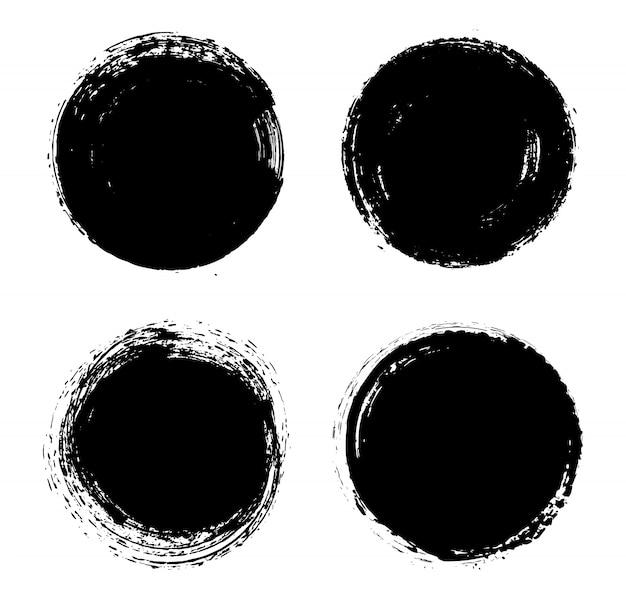Grunge round frames