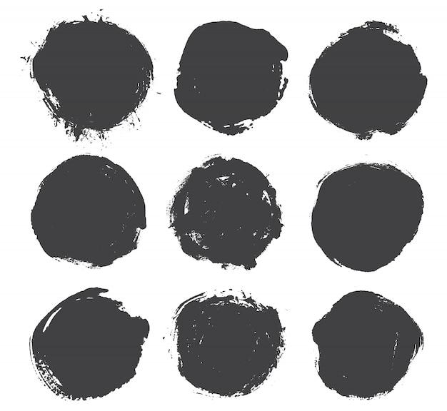 Grunge round shapes