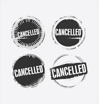 Grunge rubber stamp with the text cancelled