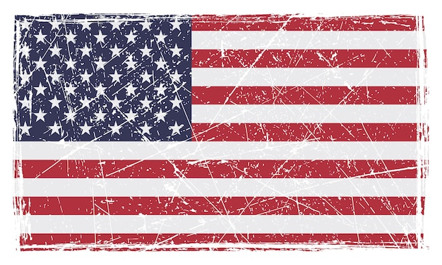 Grunge scratched american flag