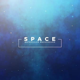 Grunge space watercolor background