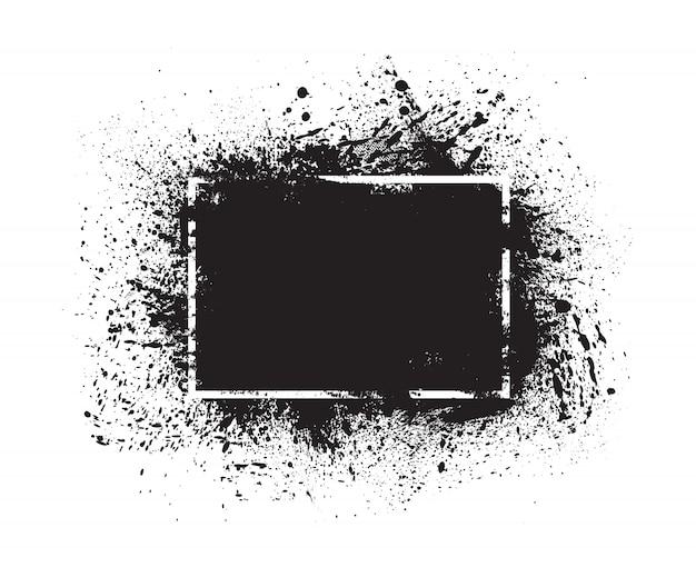 Grunge splashes frame