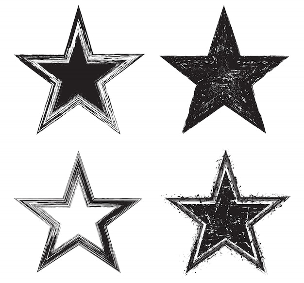 Grunge star icons