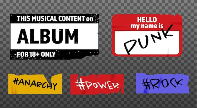 The grunge stickers collection. the old template for modern designs