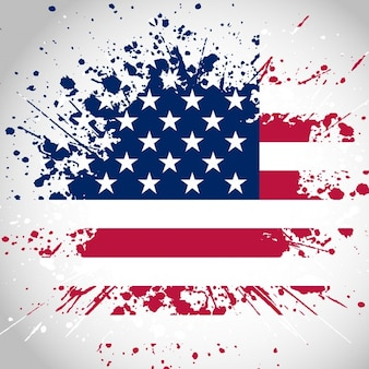 Grunge style american flag background