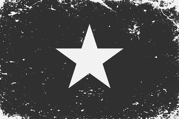 グランジスタイルの黒と白の旗ベトナム