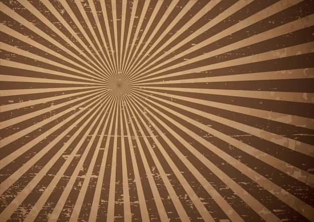 Grunge sun rays illustration