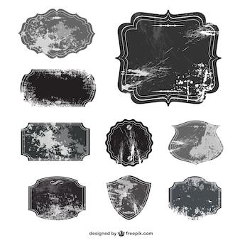 Grunge texture labels