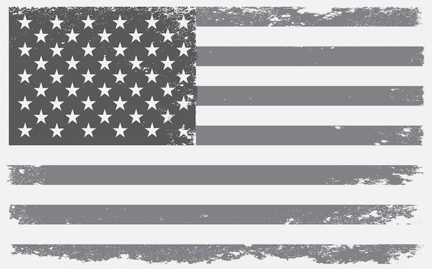 Grunge textured american flag