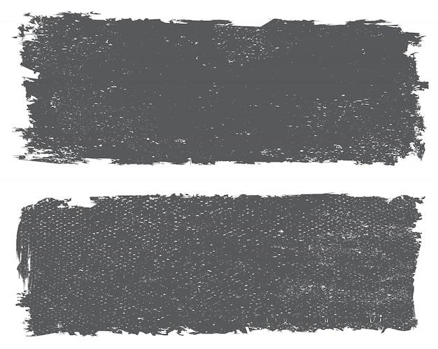 Grunge textured banners