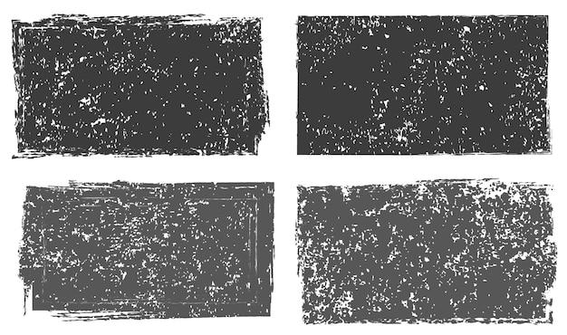 Текстурированные рамки гранж