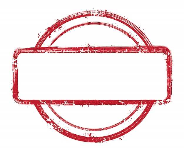 Grunge textured stamp