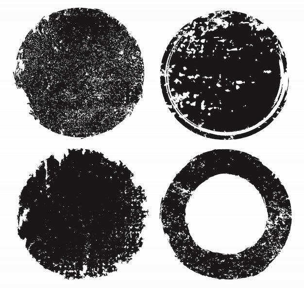 Grunge textured stamps  set