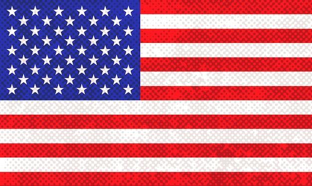 Grunge textured usa flag