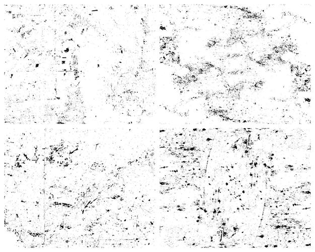 Grunge textures pack illustration