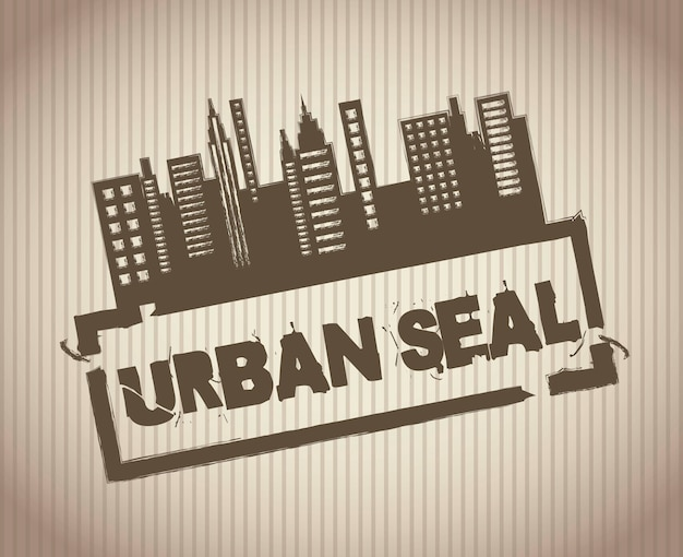 Grunge urban seal over vintage background vector illustration