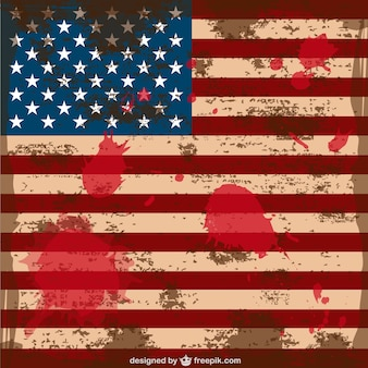 Grunge vettore usa flag