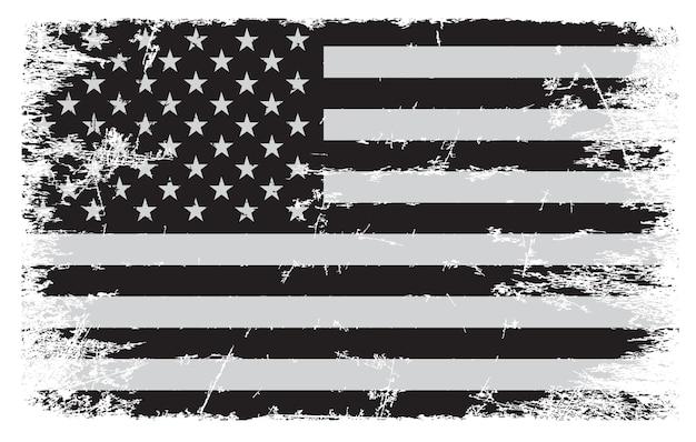 Гранж старинный американский флаг